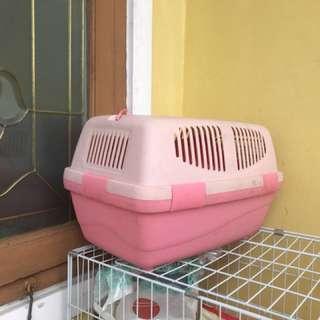 kandang kucing pink 1kali pake