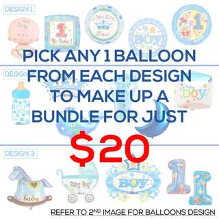 [SALES] BABY BOY BALLOONS