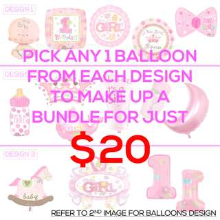 [SALES] BABY GIRL BALLOONS