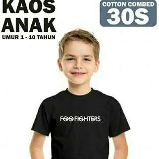 kaos foo fighter for kids