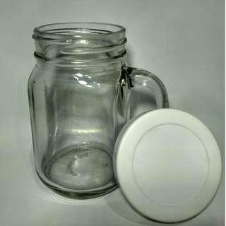 Gelas / Cangkir Jar dengan Tutup