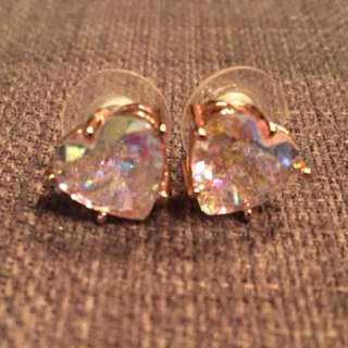 Juicy Couture Heart Shape Rose Gold Earrings