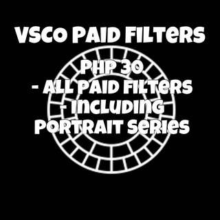 VSCO Paid Filters