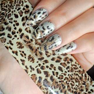 100cm x 4cm Sexy Leopard Pattern Nail Art Transfer Foils Decal Tip Glue Polish Sticker DIY Manicure Tools 452