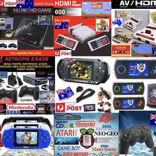 NEW GAME CONSOLES HAND HELDS HDMI PORTABLE GAMES INC