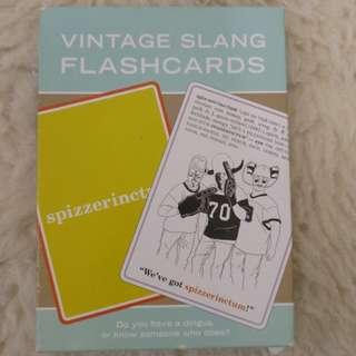 Vintage Slang Flash Cards