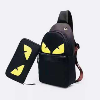 [READY STOCK] FENDI Monster Crossbody Pouch Combo Set