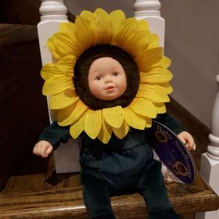 Vintage Anne Geddes sunflower doll