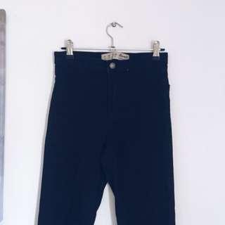 Primark high waist black jeans size 8