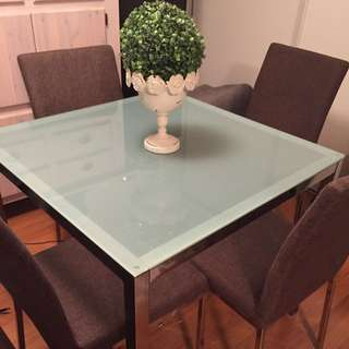 Frosted Glass Dinning Room Table