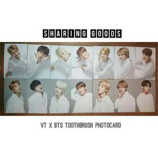 VT x BTS <Think Your Teeth> Official Photocards
