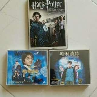 正版哈利波特cd2盒共6隻及dvd1盒共2隻