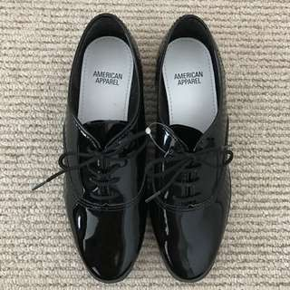 Patent Leather American Apparel Oxfords - Size 8