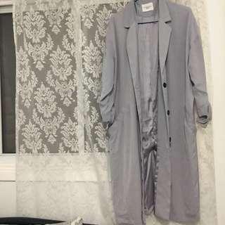 Periwinkle duster coat