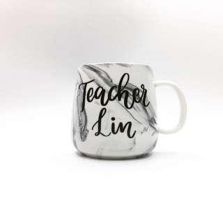 Personalize mug marble