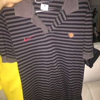 Nike Polo Tee, with Manchester United (Authentic) Medium