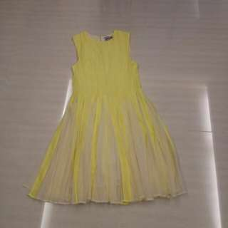 ASOS yellow flare skater dress clearance sale