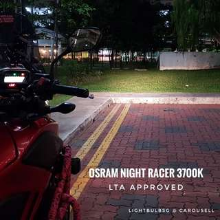 For Motorcycle - Osram Night Racer headlight bulb replacement. H4 h7