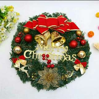 Free Mail Christmas Wreath Bells Decoration