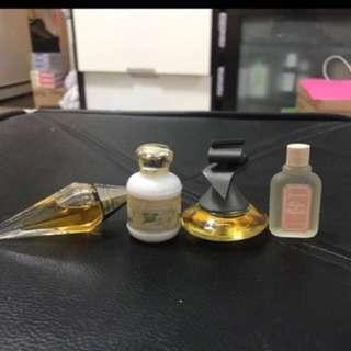 Parfum 5 to 7ml total 4 bottles (no bargain) postage