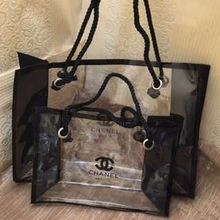 Brand new authentic chanel transparent tote