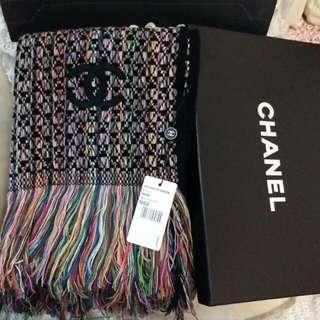 Chanel Vip 贈品限定~羊绒混💖彩線圍巾😍