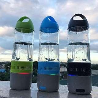MUSIC BOTTLE: Water Tumbler + Bluetooth Speaker + Powerbank Charger
