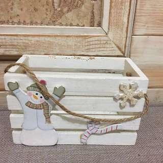 雪人置物盒