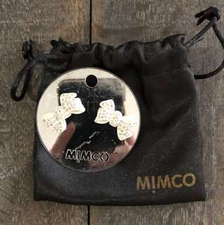 MIMCO BOW EARRINGS | NEW