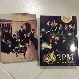 2PM Albums I'm Your Man Hardcover + Republic Of 2PM Album