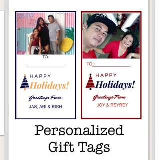 Personalized Gift Tags ( Holidays Edition )