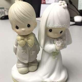 絕版 Precious Moments 結婚公仔