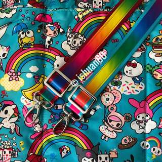 1 inch rainbow seat belt strap for Jujube