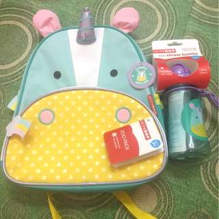 Skip Hop Unicorn Bag & Straw Bottle