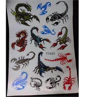 🚚 【小韻車材】毒蠍子 蠍子 天蠍 貼紙