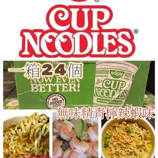 美國製造Nissin無味精青檸辣蝦杯麵(24杯裝)