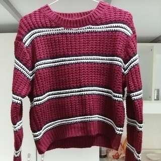 (代售)酒紅色毛衣