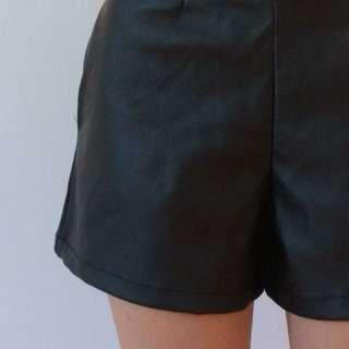 US4 ASOS Faux Leather Shorts