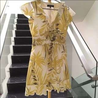 Korz Floral Ruffle Dress