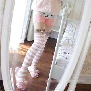 日本可愛熊保暖棉毛長襪
