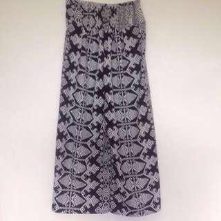 Tribal printed pants with elastic waist