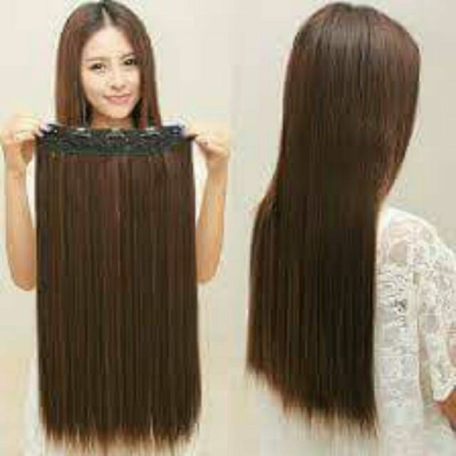 10 Clip In Straight Hair Extensions Thick Double Weft Preloved
