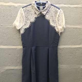 Mini dress blue carla