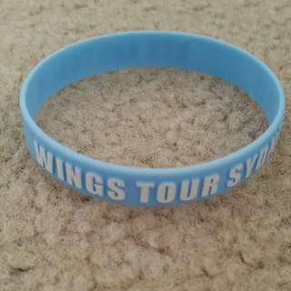 BTS Sydney Wings Tour bracelet