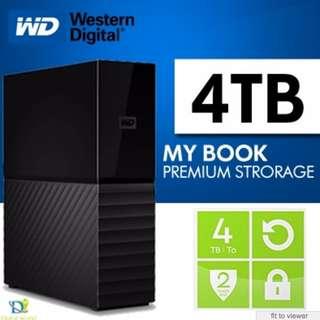 Western Digital 4TB My Book Desktop External Hard Drive - USB 3.0