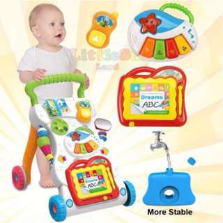 4 in 1 Children Music Walker Baby Learn Walk Stand Trolley