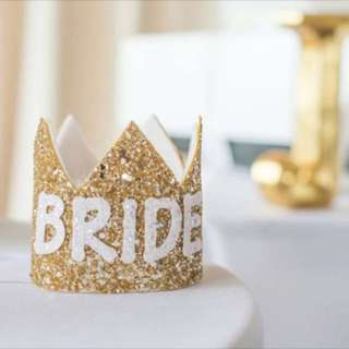 Bride To Be gold crown