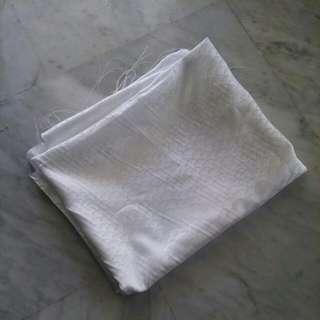 White soft cloth fabric