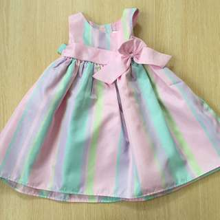 Soft Pastel Rainbow Puffy Skirt Dress