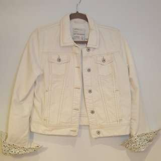 Aeropostale White Denim Jacket - Large